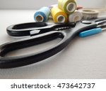a collection of sewing tools... | Shutterstock . vector #473642737