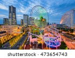 yokohama  japan cityscape at... | Shutterstock . vector #473654743