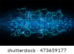 blue hexagon abstract cyber... | Shutterstock .eps vector #473659177