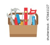 toolbox with tools. | Shutterstock .eps vector #473661127