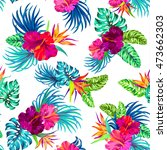 vector seamless floral pattern... | Shutterstock .eps vector #473662303