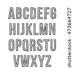 hand drawn sketch alphabet.... | Shutterstock .eps vector #473664727