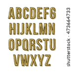 hand drawn sketch alphabet.... | Shutterstock .eps vector #473664733