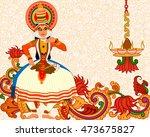 vector design of happy onam... | Shutterstock .eps vector #473675827