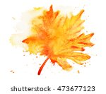 abstract yellow and orange... | Shutterstock . vector #473677123