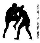 sparring kickboxing vector... | Shutterstock .eps vector #473680423