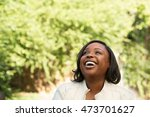 african american woman smiling | Shutterstock . vector #473701627