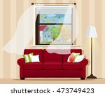 stylish comfortable room... | Shutterstock .eps vector #473749423