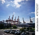 Small photo of GDYNIA, POLAND - AUGUST 24, 2016: BCT, Baltic Container Terminal. Port of Gdynia. Gulf of Gdansk, Baltic Sea, Poland. August 24, 2016. Gdynia, Poland.