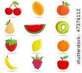 set of fruit | Shutterstock .eps vector #47376112