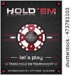 texas hold em poker tournament... | Shutterstock .eps vector #473781103