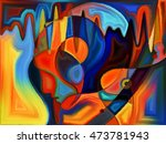 abstract painted design of... | Shutterstock . vector #473781943