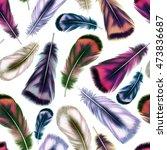 feather pattern seamless...   Shutterstock . vector #473836687