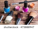 group of bright nail polishes ... | Shutterstock . vector #473888947