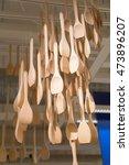long handle ladle wooden is... | Shutterstock . vector #473896207