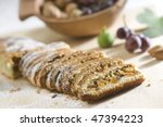 Cake from dried fruits - stock photo