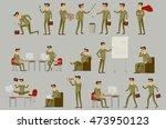 set character businessman in... | Shutterstock . vector #473950123