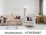 light interior with upholstered ... | Shutterstock . vector #473950687