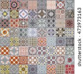 ceramic tiles patterns from... | Shutterstock . vector #473973163