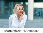 Beautiful Woman In White Shirt...