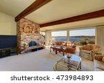 luxury interior of living room... | Shutterstock . vector #473984893