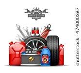 car service center colorful... | Shutterstock . vector #474000367