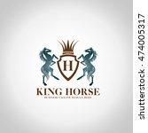king horse logo | Shutterstock .eps vector #474005317