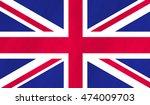 grunge flag of uk   flag of...   Shutterstock . vector #474009703