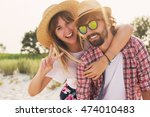 couple or best friends man and... | Shutterstock . vector #474010483