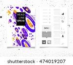 annual report brochure template ... | Shutterstock .eps vector #474019207