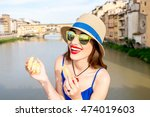 young female tourist in the... | Shutterstock . vector #474019603