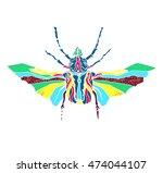 stylized psychedelic beetle...