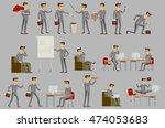 set of business people art | Shutterstock . vector #474053683