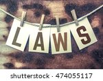 "the word ""laws"" stamped on... 