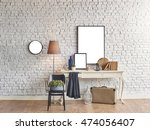 brick wall horizontal banner... | Shutterstock . vector #474056407