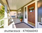 Front Covered Porch With...