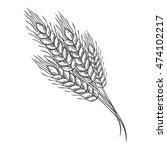 wheat bread ears cereal crop... | Shutterstock .eps vector #474102217