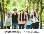 group of happy college students ... | Shutterstock . vector #474110863