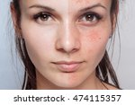 before and after cosmetic...   Shutterstock . vector #474115357