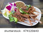 Thai  Food Fried Duck Mouth...