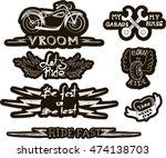 set of quirky cartoon patch... | Shutterstock .eps vector #474138703