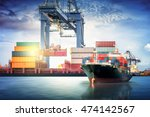 logistics and transportation of ... | Shutterstock . vector #474142567
