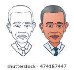 cartoon portrait  of united...