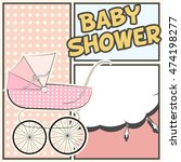 baby shower card  illustration... | Shutterstock .eps vector #474198277