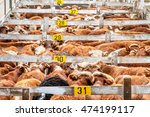 Lots Of Cattle Heaped Up In A...