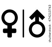 wc gender symbols icon. vector... | Shutterstock .eps vector #474213763