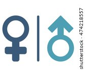 wc gender symbols icon. vector... | Shutterstock .eps vector #474218557