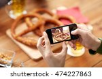 people  food  and technology... | Shutterstock . vector #474227863