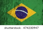 republic of brazil flag with...   Shutterstock . vector #474230947