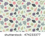 autumn seamless pattern with...   Shutterstock .eps vector #474233377
